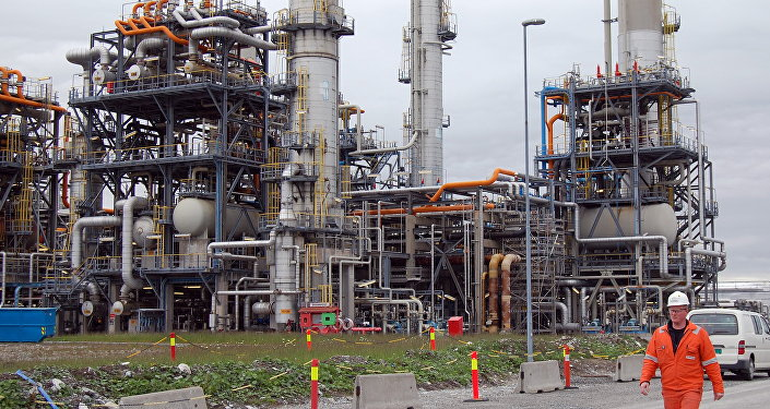 Worker at the Mongstad oil refinery in western Norway. (File)