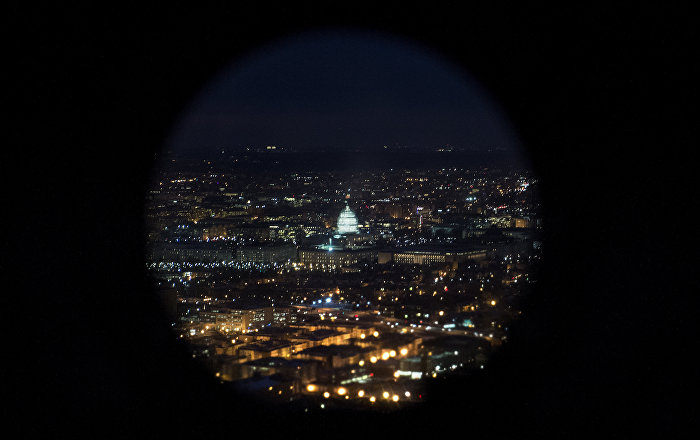 A helicopter view of the US Capitol building on Capitol Hill in Washington, DC. (File)