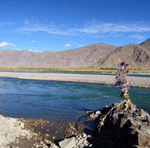 The Yarlung Zangbo River in Tibet.