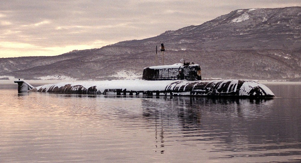 Russian Oscar-class nuclear submarine leaves a harbor on Russia 's Kamchatka peninsula. (File)