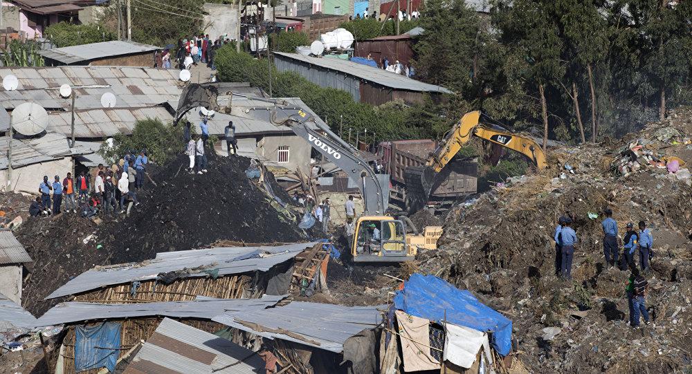 Damaged houses by landslide. (File)