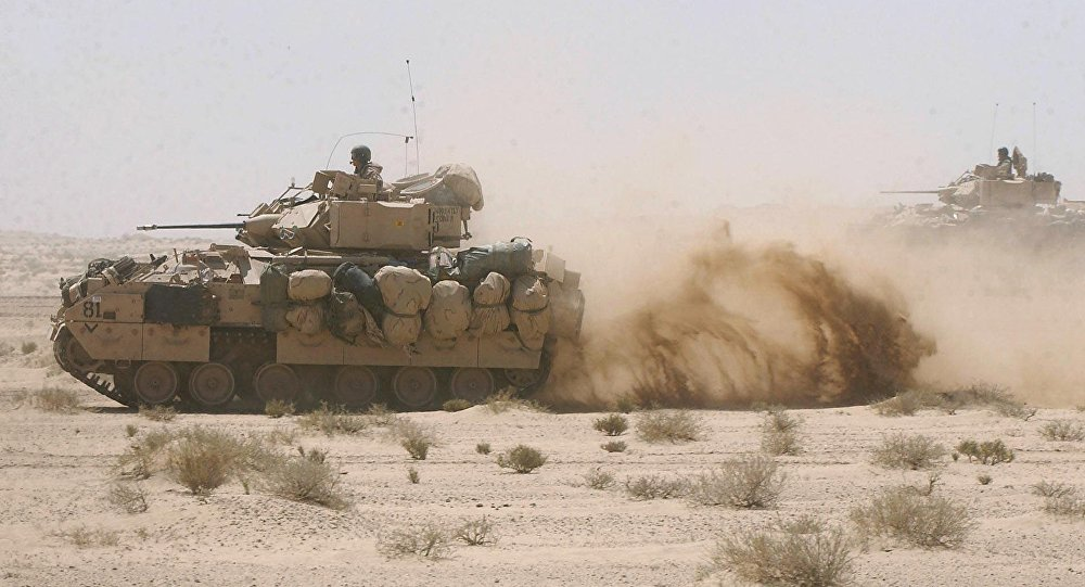 US Army Bradley fighting armor vehicles. (File)