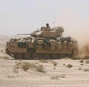 US Army Bradley fighting armor vehicles. (File)
