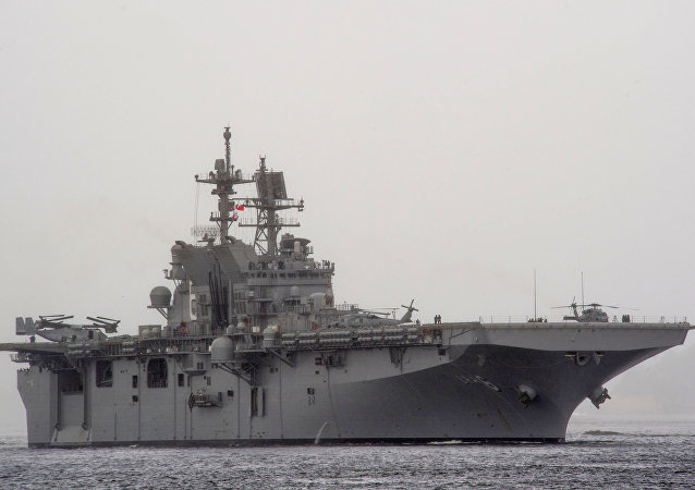 The U.S. Navy amphibious assault ship USS America (LHA-6). (File)