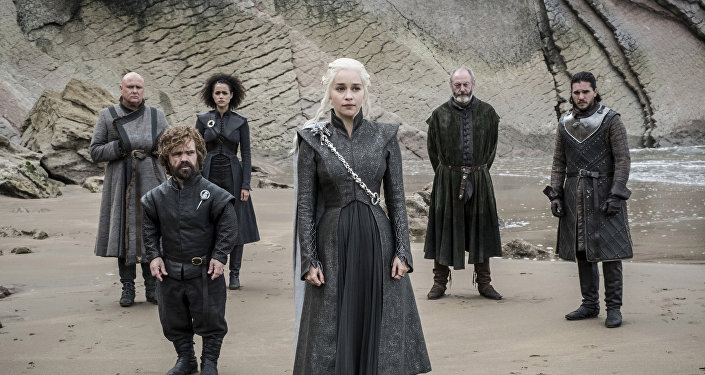 This image released by HBO shows a scene from an episode of Game of Thrones, which aired Sunday, Aug. 6, 2017