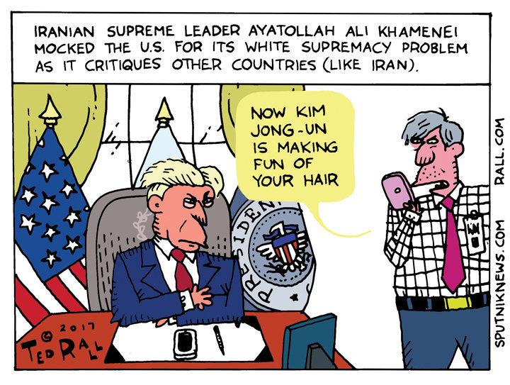 Iran Trump Tweet Cartoon