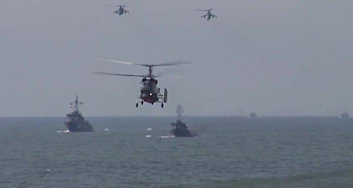 Russian Baltic Fleet Marines Practice Amphibious Assault