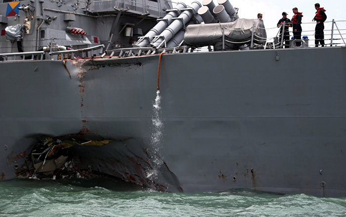 US 7th Fleet Commander to Be Relieved Amid Warships' Collisions