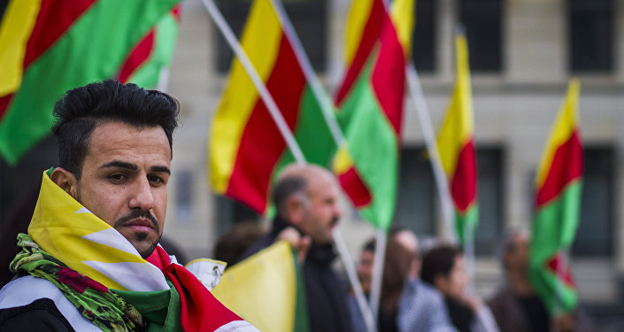 Supporters of the Kurdish group Popular Protection Unit (YPG)  in Berlin, file photo
