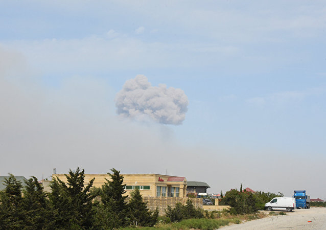 Arms Storage Blast in Azerbaijan's Khizi District