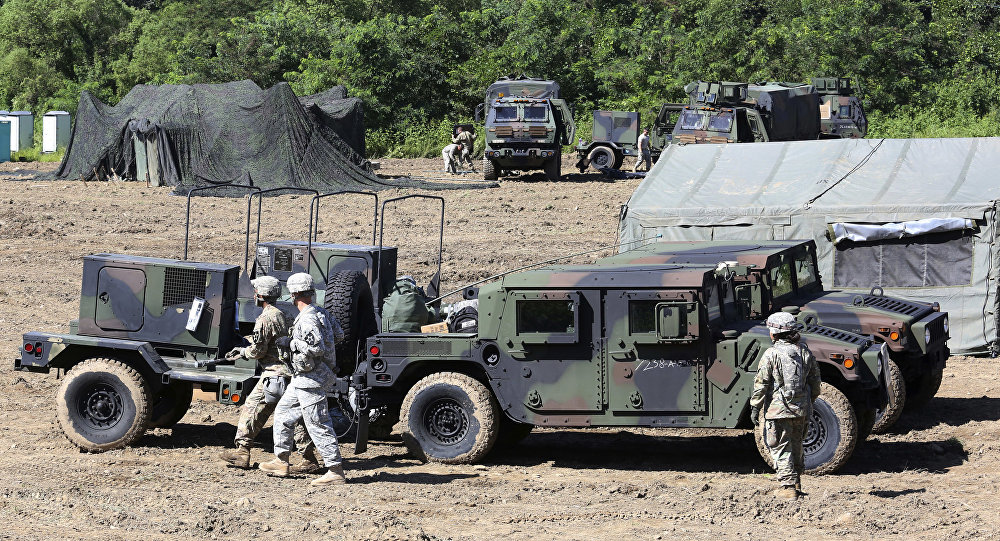U.S. Army soldiers prepare for their military exercise in Paju, South Korea, near the border with North Korea, Saturday, Aug. 26, 2017.