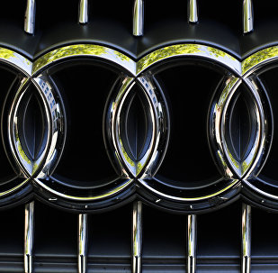 The sign of German car company Audi photographed at the front of a car in Berlin, Germany, Monday, Sept. 28, 2015.