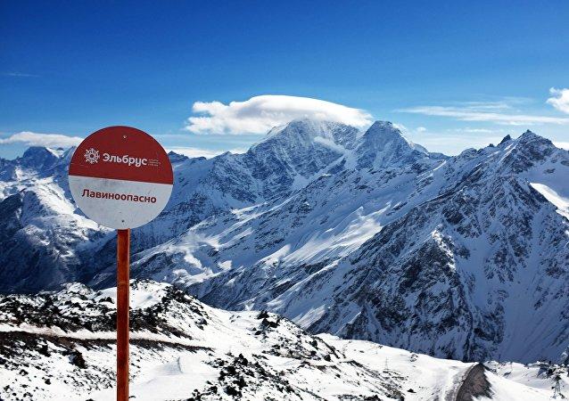 Mountains at the Elbrus all-season tourist-recreation complex in Kabardino-Balkaria