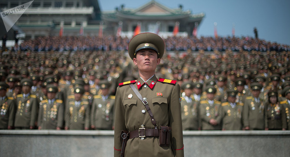 Military parade in North Korea