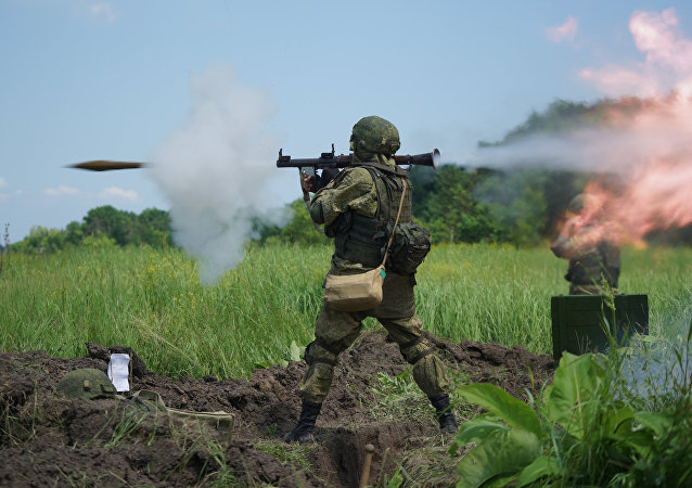 Marine Corps exercises in Krasnodar Territory