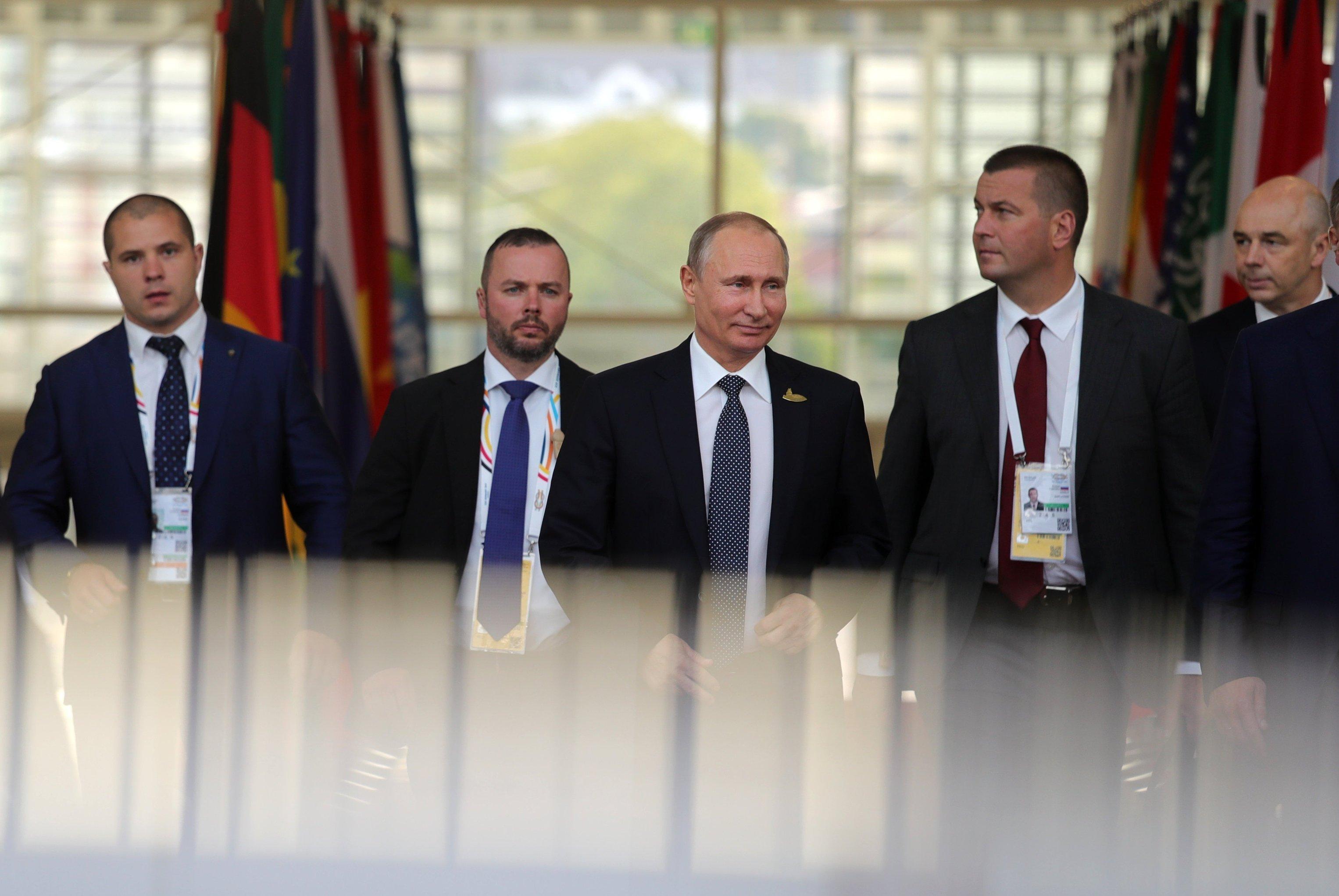 President Vladimir Putin attends G20 summit in Hamburg, July 2017