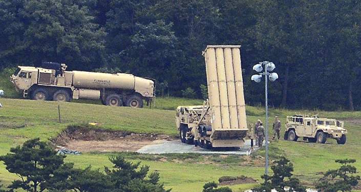 US missile defense system called Terminal High Altitude Area Defense, or THAAD, is seen at a golf course in Seongju, South Korea, Wednesday, Sept. 6, 2017