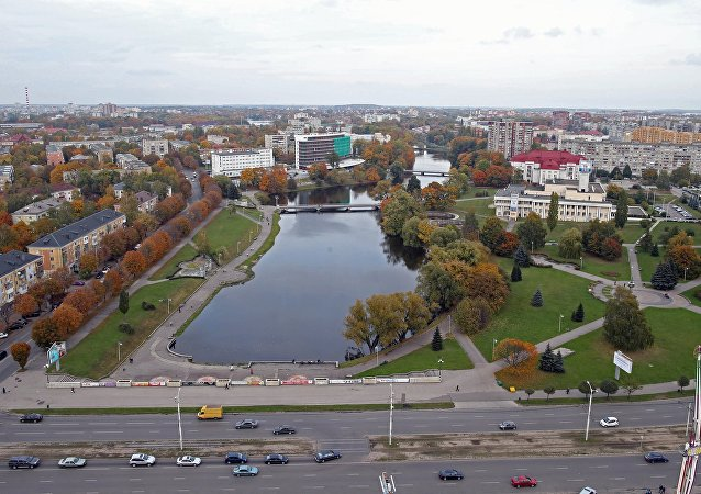 View of Palace Lake in the city of Kaliningrad. (File)