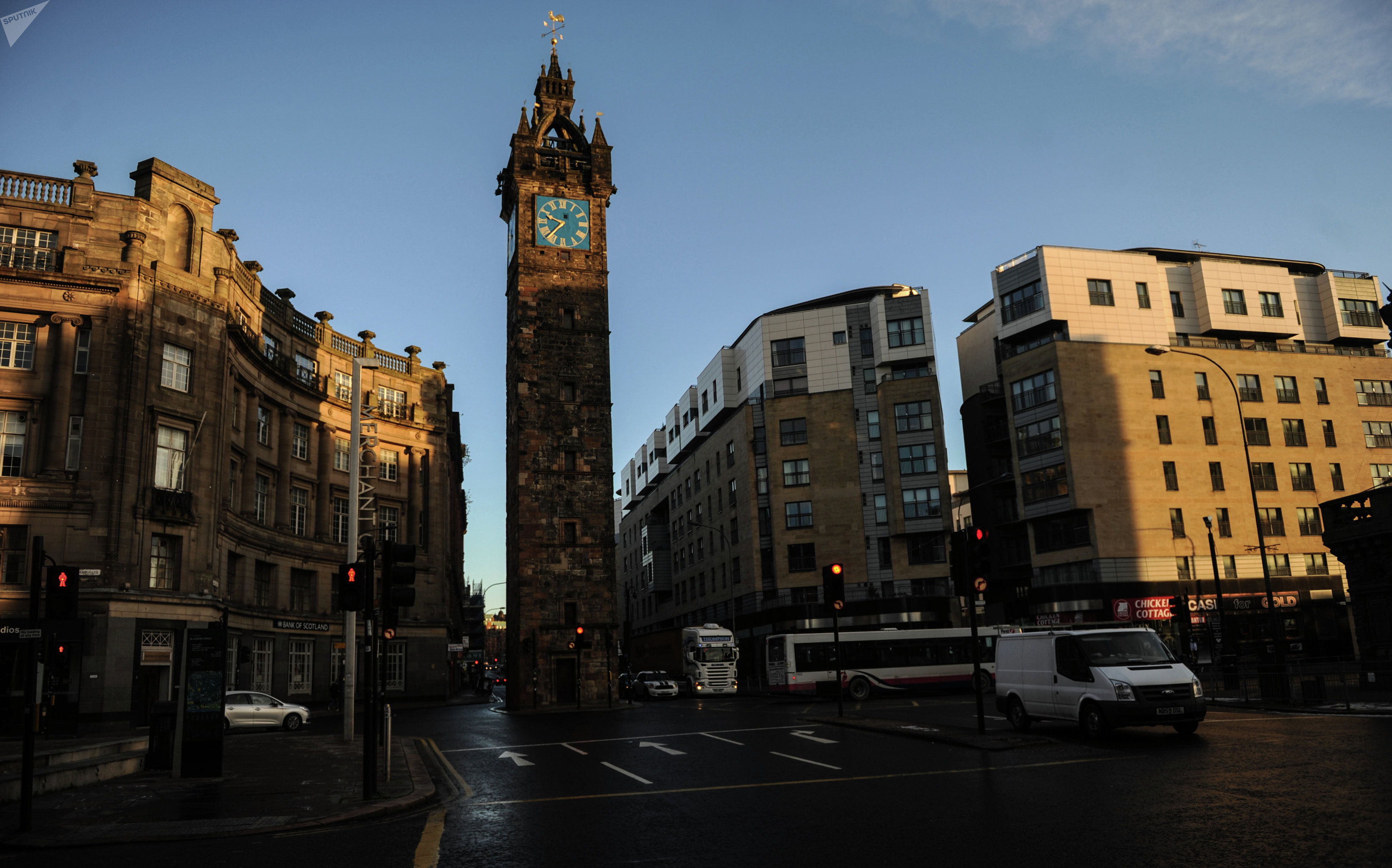 Tolbooth Clock Tower in Glasgow