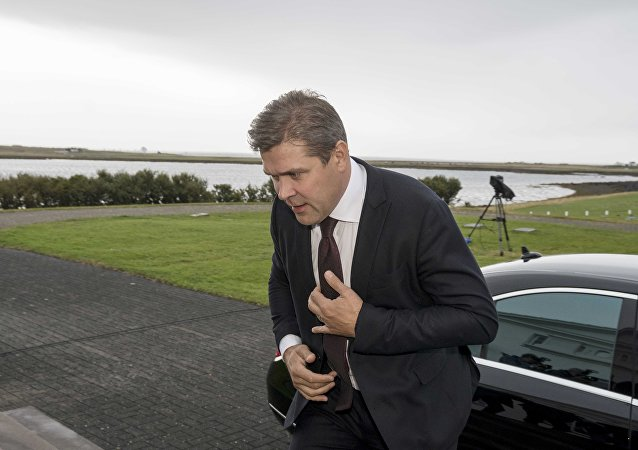 Iceland's Prime Minister Bjarni Benediktsson arrives at the Presidential residence in Bessastadir, Iceland September 16, 2017