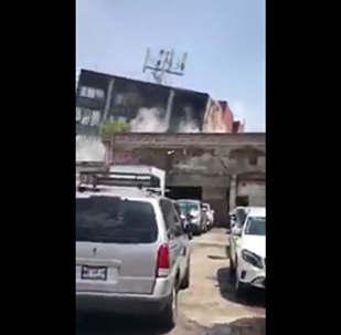 Horrific footage shows moment a building collapses in Mexico City after 7.1 earthquake
