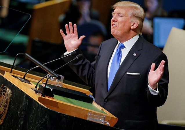 US President Donald Trump addresses the 72nd United Nations General Assembly at UN headquarters in New York, US, September 19, 2017.