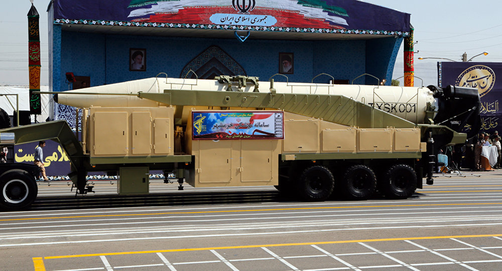 In Defiance to US, Iran Unveils New Missile During Parade