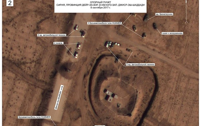 Russia Reveals Footage of US Forces Near Daesh Positions North of Deir-ez-Zor