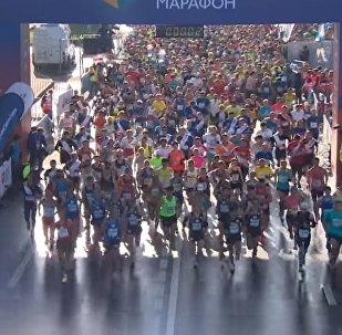 Moscow Marathon Footage