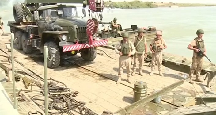 Russia Builds A Bridge Across The Euphrates River