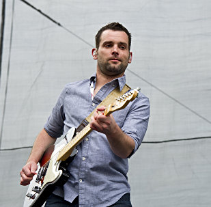 Caleb Keeter of the Josh Abbott Band performs at the ACM Party for a Cause at Globe Life Park on April 17, 2015, in Arlington, Texas