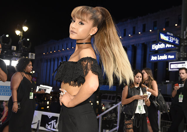 In this Aug. 28, 2016 file photo, Ariana Grande arrives at the MTV Video Music Awards in New York.