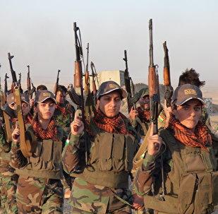 Peshmerga female fighters in Kirkuk