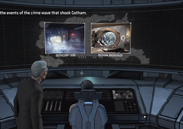 A screenshot from Batman: The Enemy Within, the episodic video game from developer Telltale Games. This scene, from Episode Two: The Pact, depicts the corpse of murdered Russian ambassador to Turkey Andrei Karlov.