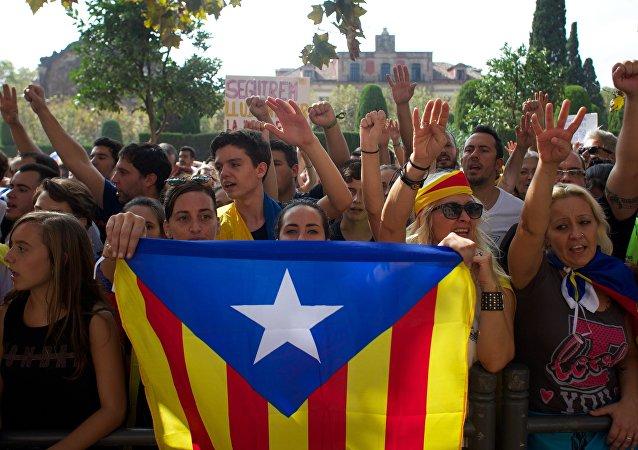 General strike in Barcelona in support of Catalan independence referendum
