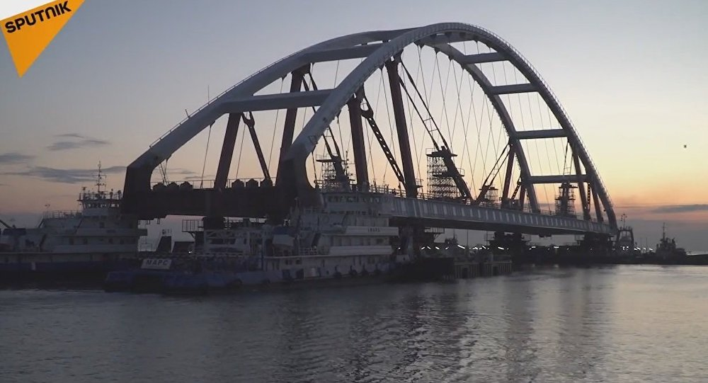 Delivery of Road Arches of the Crimean Bridge