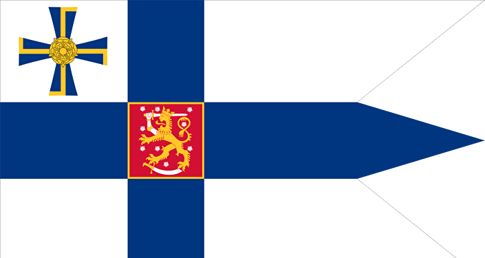 Swallow-tailed state flag for the president of the Republic of Finland