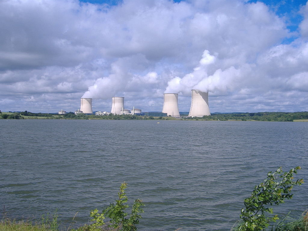 Nuclear Power Plant Cattenom and Cooling Lake Lac du Mirgenbach