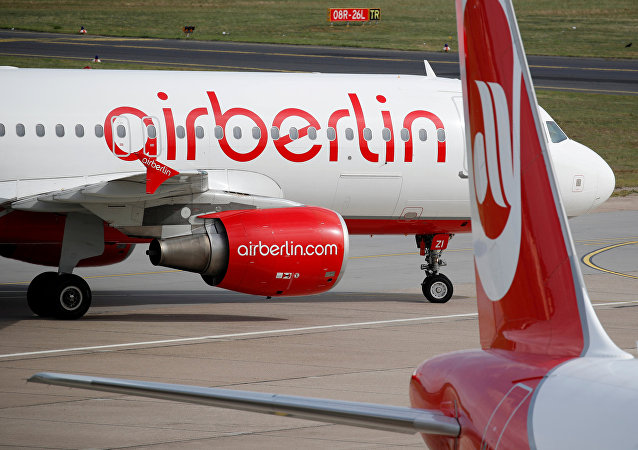 German carrier Air Berlin aircrafts are pictured at Tegel airport in Berlin, Germany, September 12, 2017