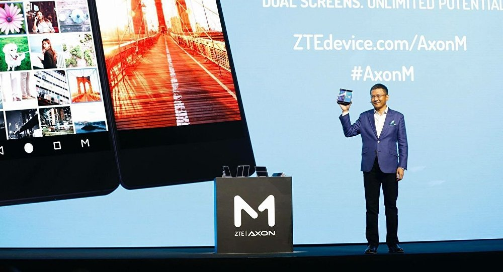 Introducing ZTE's first foldable smartphone with dual screens. The AxonM.