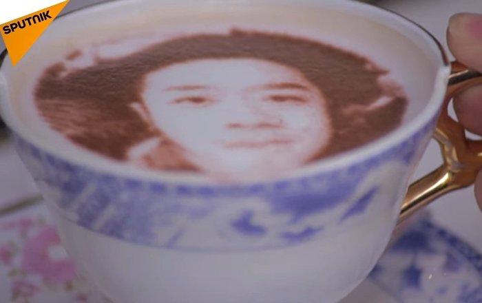 Coffee With Selfie Printed On Milk Foam