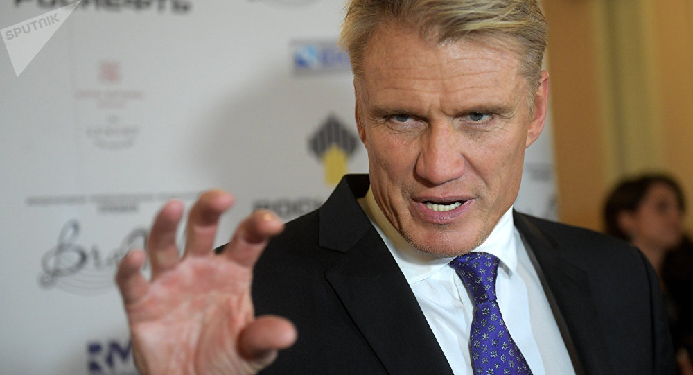 Actor Dolph Lundgren before the BraVo international music awards ceremony held at the Bolshoi Theater in Moscow
