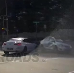 Mysterious moment car appears from nowhere to cause crash ' ghost car''