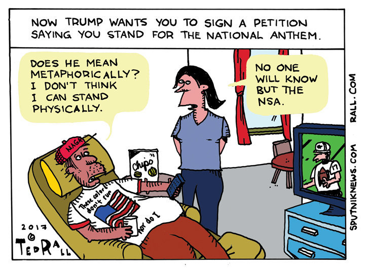 Trump Anthem Petition Cartoon