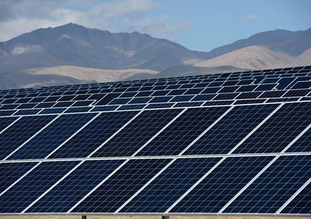 The Kosh-Agachskaya solar power plant in the Republic of Altai. (File)