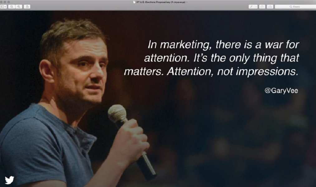 Slide 2, featuring an inspirational quote from Russian-American entrepreneur Gary Vaynerchuk.