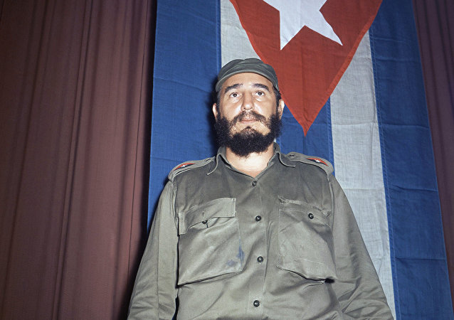 Shown in photo is Fidel Castro, Premier of Cuba in 1965.