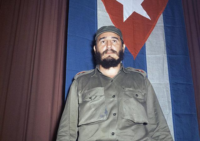 Shown in photo is Fidel Castro, Premier of Cuba in 1965.