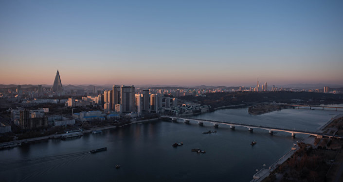A general view shows the Pyongyang city skyline and Taedong river (File)