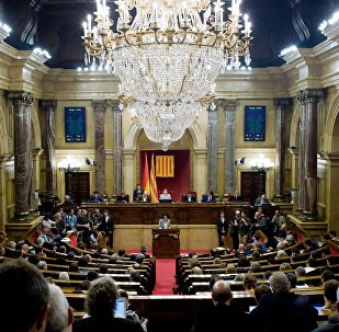 Catalonia's parliament voted to declare independence from Spain in Barcelona